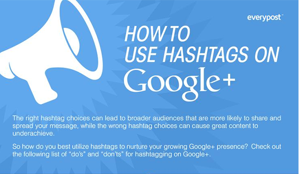 How to Use Hashtags on Google+ (Infographic)
